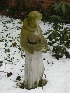 St. Francis in the snow