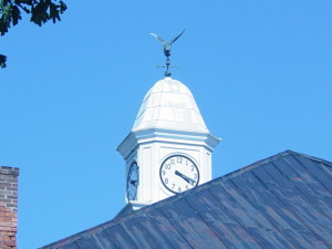 Stoney Clock Tower in blue sky