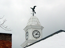 Stoney Clock Tower in the snow